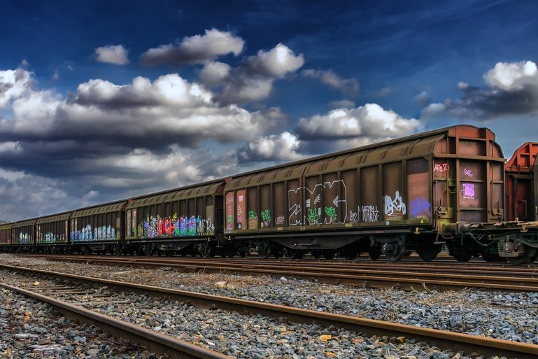 supply chain statistics - freight train